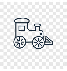 locomotive concept linear icon isolated on vector image