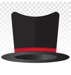 Magic top hat or magician costumes flat icons vector