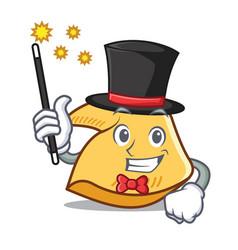 Magician fortune cookie mascot cartoon vector