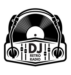 monochrome template on a musical theme vector image