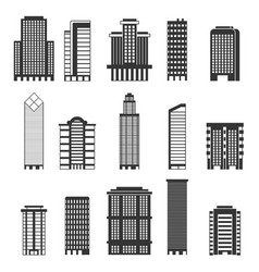 monochrome urban buildings vector image