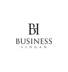 Monogram letter h b logo design inspiration vector