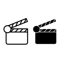 Movie clapper line and glyph icon clapperboard vector