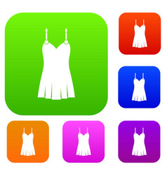 nightdress set color collection vector image