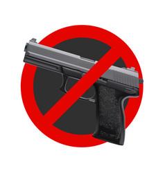 No guns sign vector