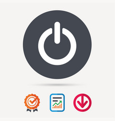 on off power icon energy switch sign vector image