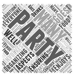 Party accessories Word Cloud Concept vector