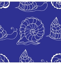 pattern with shells vector image