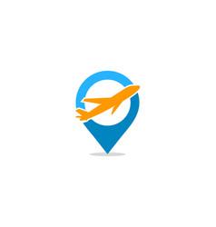 pin travel logo icon design vector image