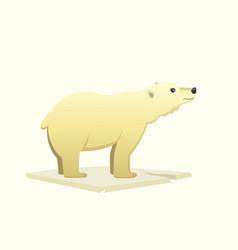 polar white bear cartoon arctic animal vector image vector image