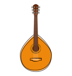portuguese guitar sketch musical instrument vector image
