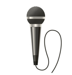 realistic detailed modern metal microphone vector image