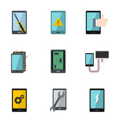 Repair phones fix icon set flat style vector