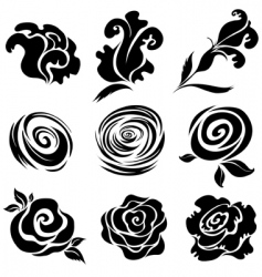 Rose design elements vector