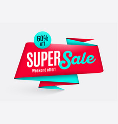 Sale banner template special offer end of season vector