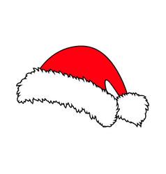 santa hat christmas cap icon symbol design winter vector image