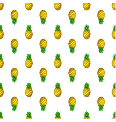 seamless pattern with up and down pineapples vector image