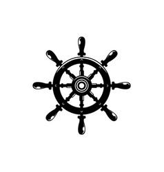 ship steering wheel contour vector image
