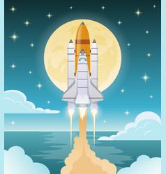space exploration flat composition vector image