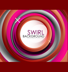 spiral swirl flowing lines 3d abstract vector image