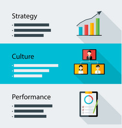 Strategy culture performance business template vector