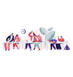 students sitting visiting lecture in university vector image