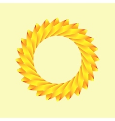 stylized logo of the sun vector image