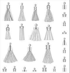 Tassel accessories fashion design vector