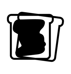 toast bread with jam vector image