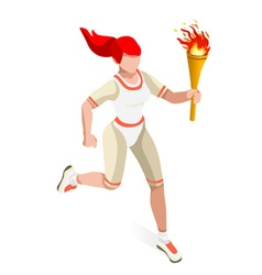 Torchbearer 2016 Sports Isometric 3D vector