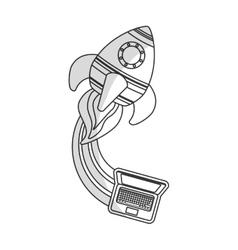 Toy rocket icon image vector