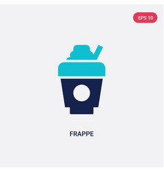 Two color frappe icon from fast food concept vector