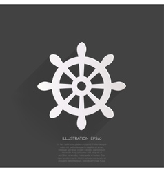 Wheel web icon vector