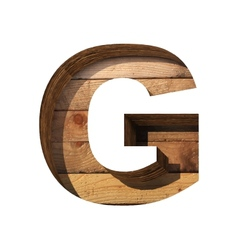Wooden cutted figure g Paste to any background vector