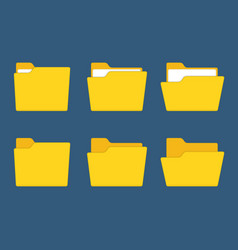 yellow folder vector image