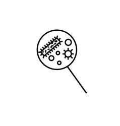 bacteria magnifier icon vector image