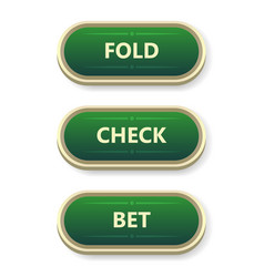 colorful gambling and poker buttons with text vector image