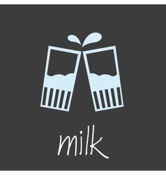 Drink milk design banner and background eps10 vector