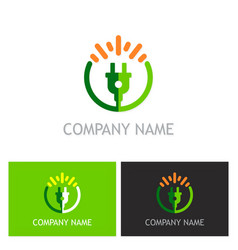 electric bio energy logo vector image