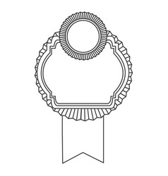 figure emblem with symbols inside icon vector image vector image