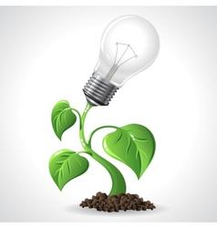 Green energy concept - Power saving light bulbs vector image