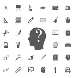 human face with question mark on vector image