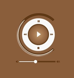 Music Player Control Interface 6 vector image vector image