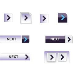 web buttons blue vector image