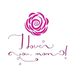 Card for Mothers day with hand font vector image vector image