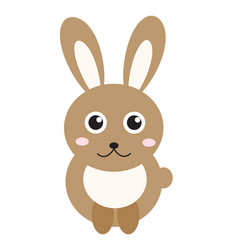 cute bunny icon flat stylerabbit isolated on vector image vector image