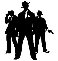 gangster mafia vector image vector image
