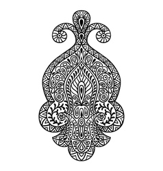 Indian ethnic ornament Hand drawn henna tattoo vector image vector image