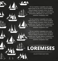 sailboats poster design vector image vector image