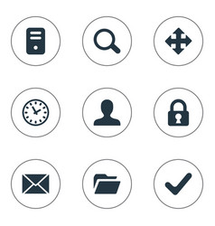 set of simple apps icons vector image vector image